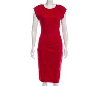 Diane Von Furstenberg DVF red wool dress 4